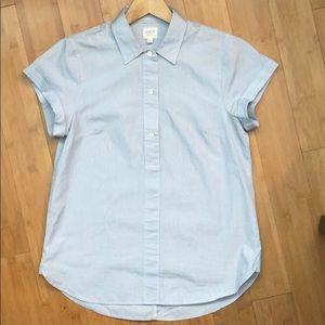 button down pinstripe collared shirt